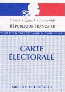 Carte electorale Cardonnette